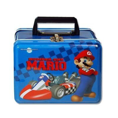 Mario Brothers Small Tin Lunch Box Pencil Case - Blue