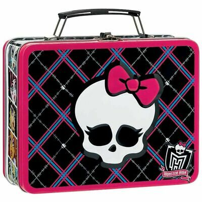 Monster High Square Tin Carry All Stationery Lunch Box Lunchbox - Skull