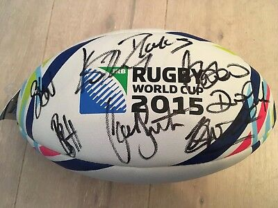 2015 New Zealand World Cup Replica Signed Ball