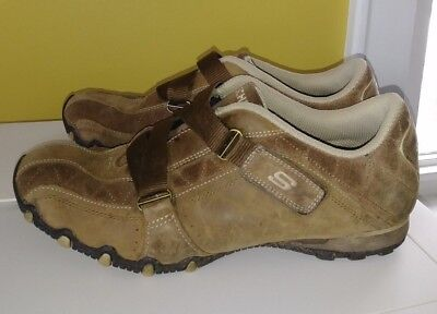 Skechers Women's SN 46297 Brown Slip On Leather/Suede Casual Shoes Size 9