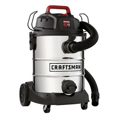 Craftsman Wet-Dry Vac 8 Gallon Stainless Steel 4 Peak HP Wet/Dry Vacuum Shop NEW