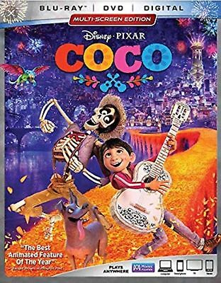 Disney Coco (Blu-ray + DVD + Digital Combo Pack + Slip Cover) Free Shipping New