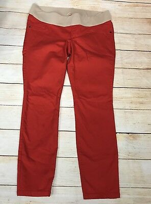 Old Navy Maternity Jeans Skinny Hot Red Skinny Jean Size 14 / Large