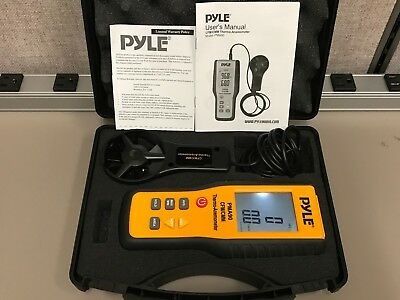 PYLE PMA90 CFM/CMM THERMO-ANEMOMETER for AIR VELOCITY / AIR FLOW / TEMPERATURE
