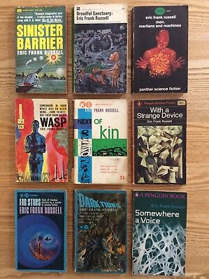 Job Lot Collection of vintage Science Fiction paperbacks by Eric Frank Russell