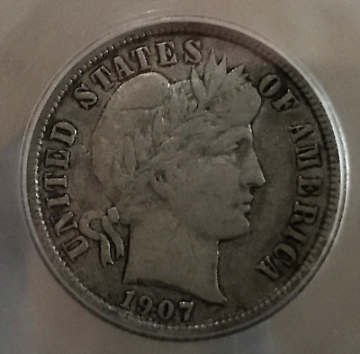 1907 O 10c Barber Dime / Liberty Head Dime XF New Orleans Mint