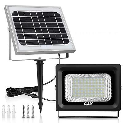 Solar Flood Light Outdoor 60 LED Security Lamp Waterproof 300 Lumens Floodlights