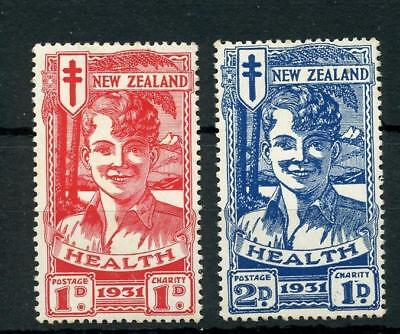 New Zealand 1931 Smiling Boys Health Stamps SG546/7 MLH