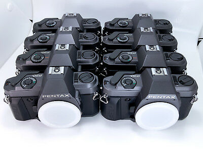 EIGHT 8 PENTAX P30T 35mm SLR CAMERAS w/STRAPS MANUALS EXCLL+ to MINT