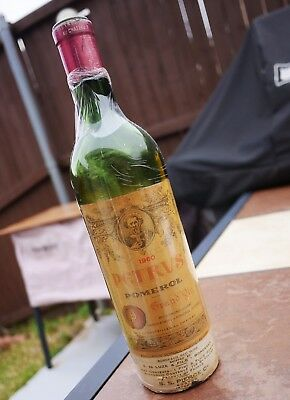 Petrus Pomerol 1960 Vintage Petrus Wine Empty Bottle