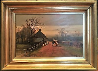Oil Painting Fine Old Master  Signed William Martin 19Th Century British School