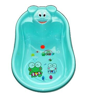 Baby Bath Tub, Infant Washing Newborn Toddler Bathtub Cute Animal Shape Green