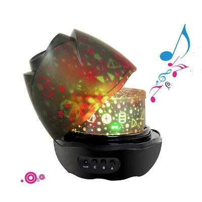 Baby Musical Rotating Projector Night Light With 12 Songs & Multiple Projectors