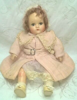 "Vintage Madame Alexander Little Genius Doll 17"" All Orig. $44.44"