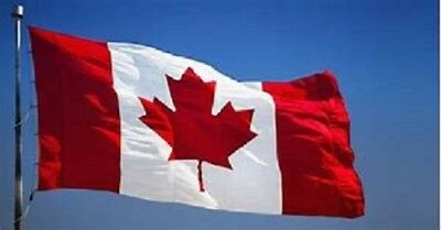 """Large 3' x 5' HIGH  QUALITY 100% POLYESTER CANADA  FLAG  """" NEW IN BAG """""""