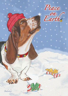Basset Hound Christmas Cards Set of 10 cards & 10 envelopes