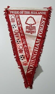 Gagliardetto Calcio Nottingham Forest Premier League Italy Pennant Vintage Gc18