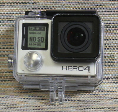 GoPro HERO4 Silver Edition + -  50 Piece Hero 4 Accessory Kit Camera USED