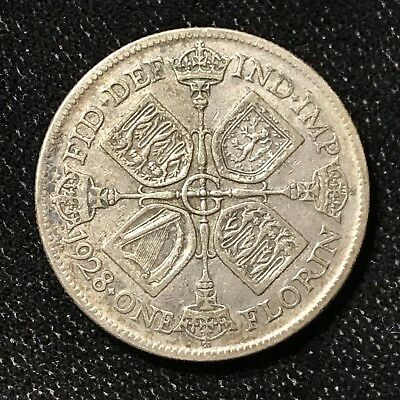 1928 FLORIN - GREAT BRITAIN *GREAT OLD BRITISH SILVER - GEORGE V - Lot#A668