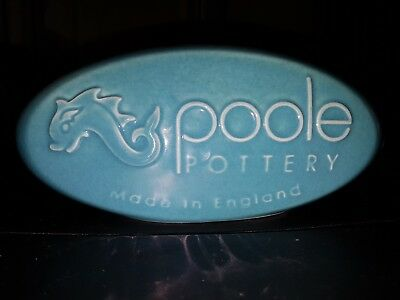 Poole Pottery Advertising Pill In Light Blue
