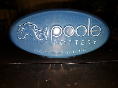 Poole Pottery Advertising Pill In Dark Blue