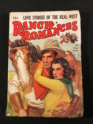 Vintage 1939 Western Pulp Magazine RANCH ROMANCES 144 Pages