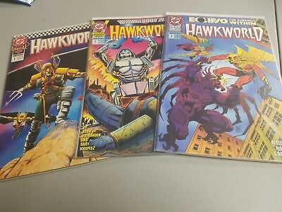 DC Annual Hawkworld Issues 1,2, And 3