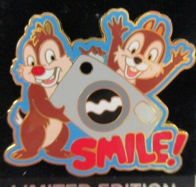 Disney Pin - Chip & Dale with Camera - Smile! LE  #66969