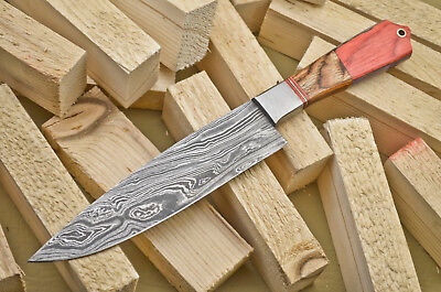 A.Stokes HAND MADE DAMASCUS STEEL CHEF KNIFE / KITCHEN KNIFE -HARD WOOD- FR-513