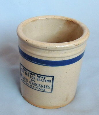 Vintage Red Wing Adertising Beater Jar - May's Groceries