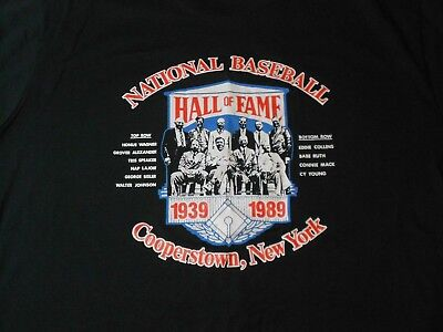 Vintage 1989 National Baseball Hall of Fame Cooperstown T-Shirt (Size XL) U.S.A