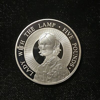 2004 5 POUNDS - ALDERNEY - FLORENCE NIGHTINGALE - PROOF - SILVER - Lot#A728