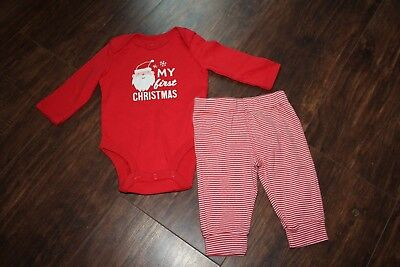 Carter's Baby 2 piece Santa My First Christmas outfit NEW size 3 months