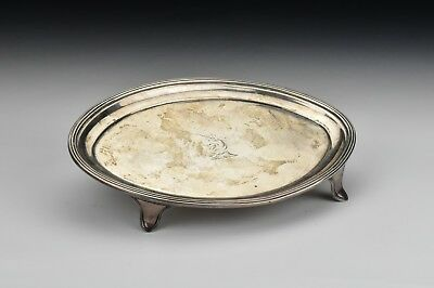 English Sterling Silver Teapot Tray By John Emes London w/ Armorial Crest