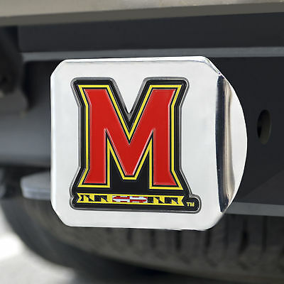 University of Maryland Color Emblem on Chrome Hitch Cover