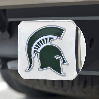 Michigan State University Color Emblem on Chrome Hitch Cover