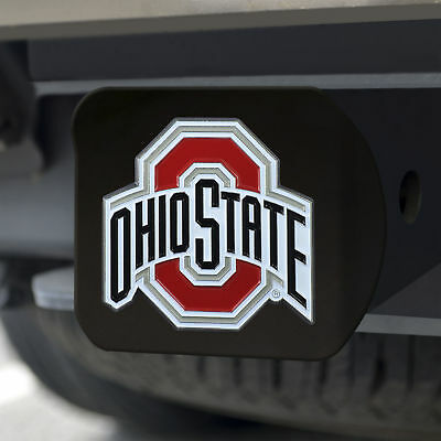 Ohio State University Color Emblem on Black Hitch Cover