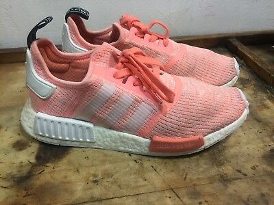 NEW ADIDAS NMD R1 Womens Shoes Pink White Sunglow Ultra Boost BY3034