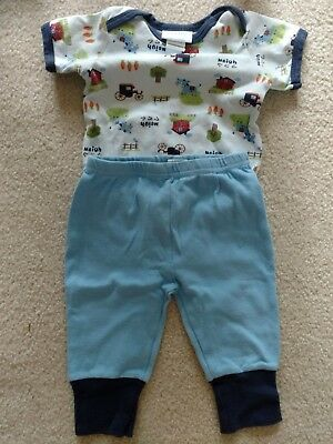 baby by bon bebe two piece outfit size 6-9 months