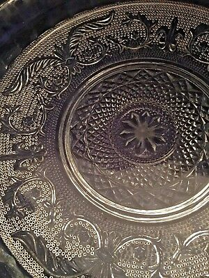 large platter Celtic sword and scroll Malaysia glass vintage.