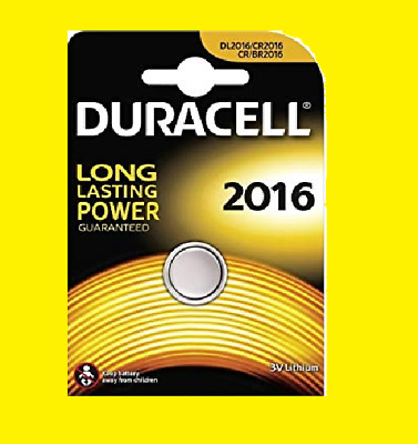 2016 CR2016 DURACELL 3V Lithium Coin Button Cell Battery