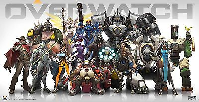 Overwatch Poster | Sizes A4 to A0 UK Seller| E177