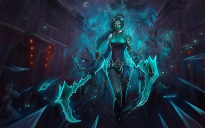 Akali League of Legends Epic Poster | Sizes A4 to A0 UK Seller | E085
