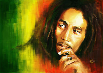 Bob Marley Giant Poster | Sizes A4 to A0 UK Seller | E017