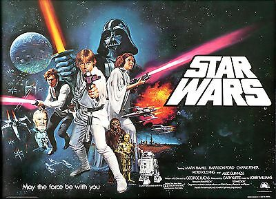 StarWars May the Force Be With You Vintage Poster |Sizes A4 to A0 UK Seller E052