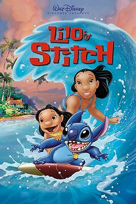 LILO & STITCH Cartoon Poster Character Art Print | Sizes A0 to A4| UK Seller