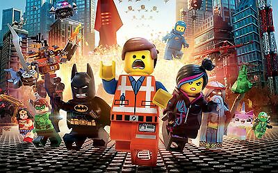 LEGO MOVIE KIDS GIANT POSTER WALL ART | SIZES A4 to A0 UK SELLER | E058