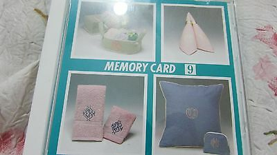 Janome #9 Three Letter Monogram Memory Embroidery Card EXC Pre-Own