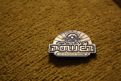 """Captain Power and the Soldiers of the Future Logo Plastic Badge 1 3/4"""" x 1 1/2"""""""