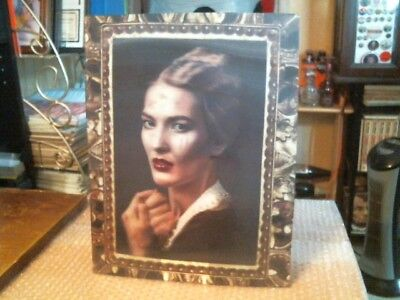 """Beautiful Lady Turns Into A Vampire Large 11"""" X 14"""" 3-D Effect Plastic Portrait"""